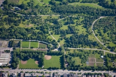 Aerial photo of the Arboretum